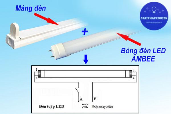 Cách lắp đặt đèn tuýp LED 1m2 cho gia đình, văn phòng, nhà xưởng