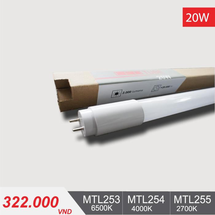 Đèn LED Tube T8 20W/1m2 MTL253/MTL254/MTL255